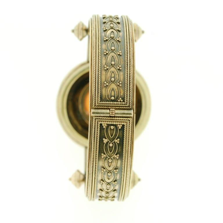 Victorian Etruscan Wirework & Carnelian Gold Bracelet 5