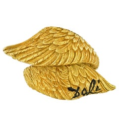 Salvador Dali, Alemany & Ertman Gold Bypass Wing Ring