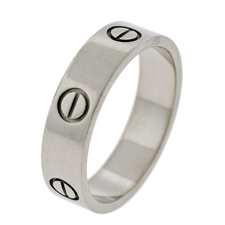 CARTIER Contemporary White Gold Love Ring image 5