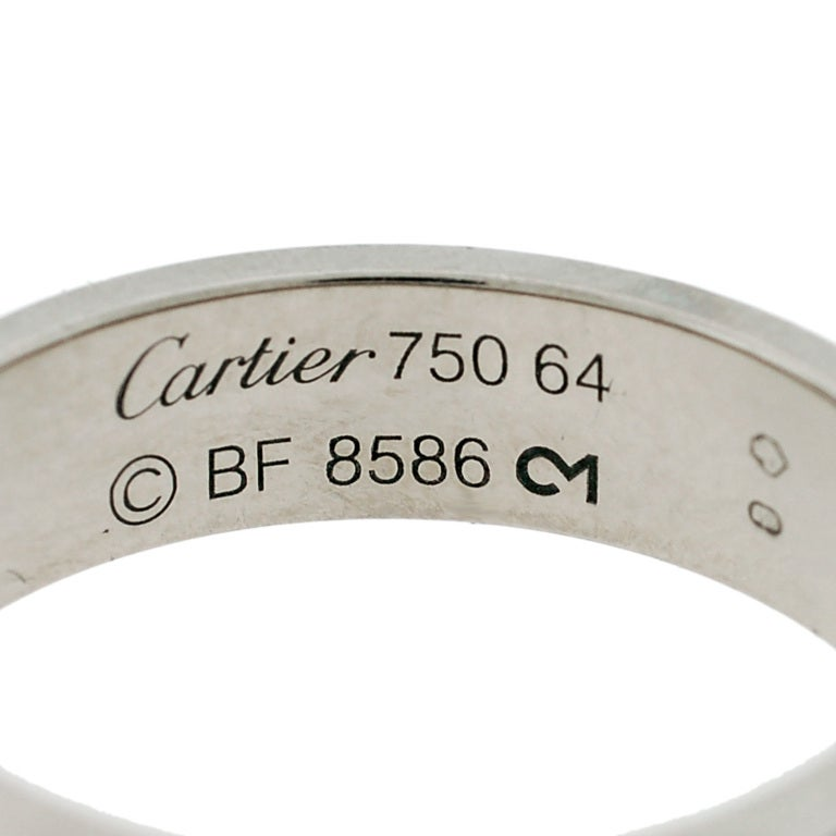 CARTIER Contemporary White Gold Love Ring image 6
