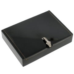 CARTIER Paris Black Lacquer & Diamond Compact Box