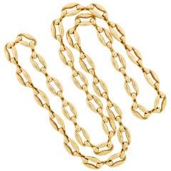 CARTIER PARIS Long Link Heavy Gold Chain