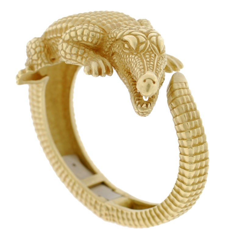 BARRY KIESELSTEIN-CORD Gold Alligator Bracelet