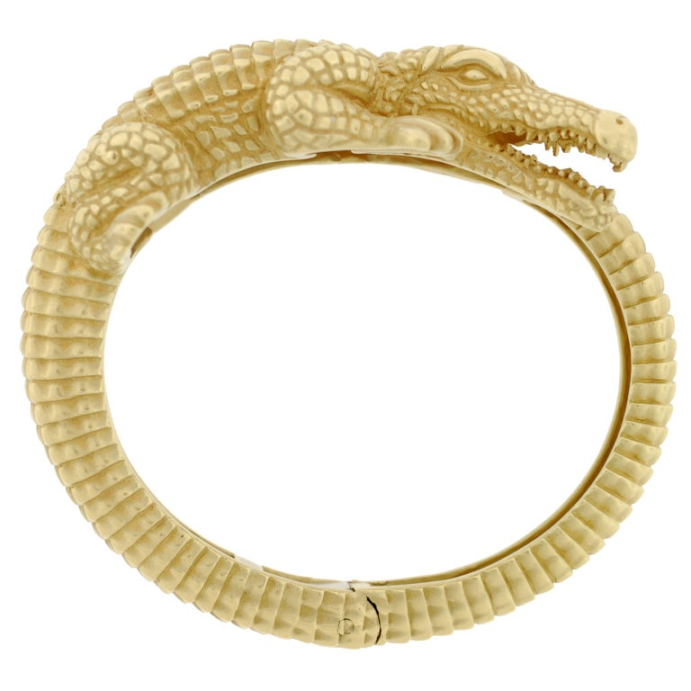 BARRY KIESELSTEIN-CORD Gold Alligator Bracelet image 2