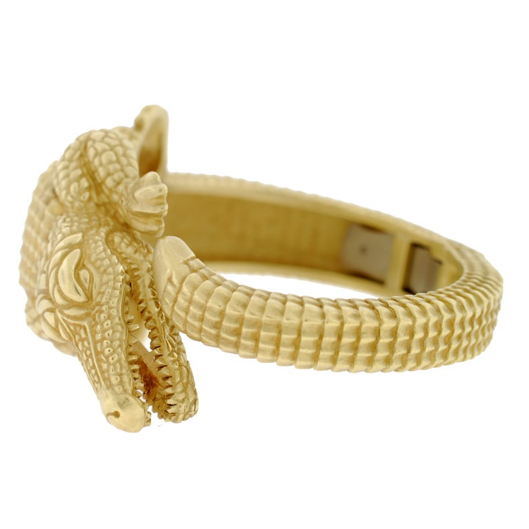 BARRY KIESELSTEIN-CORD Gold Alligator Bracelet image 4