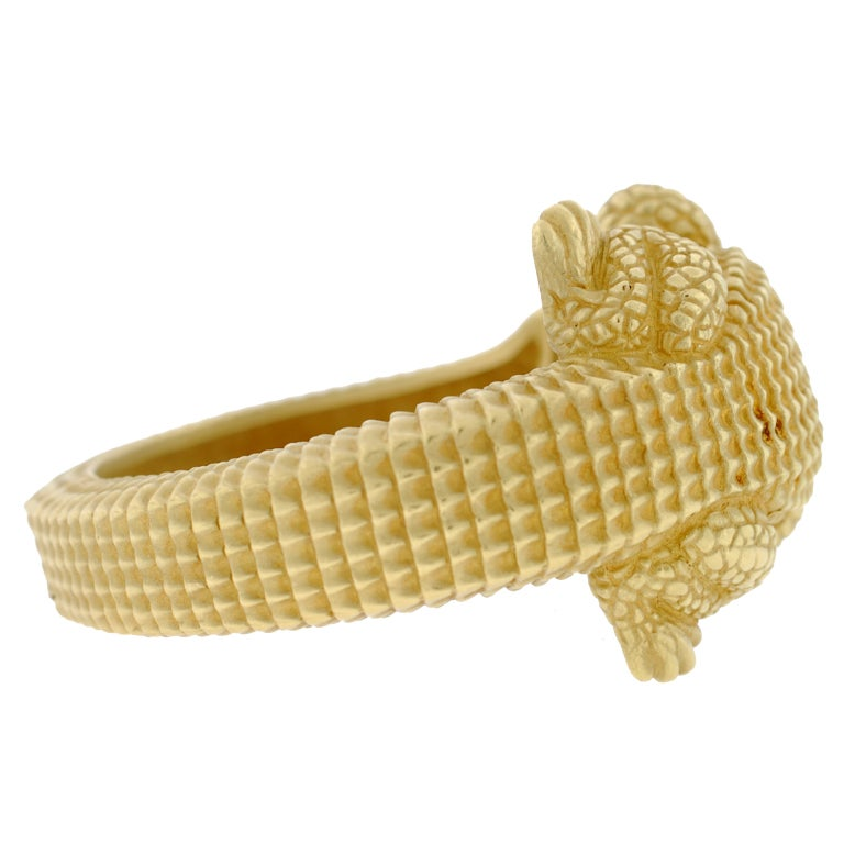 BARRY KIESELSTEIN-CORD Gold Alligator Bracelet image 5