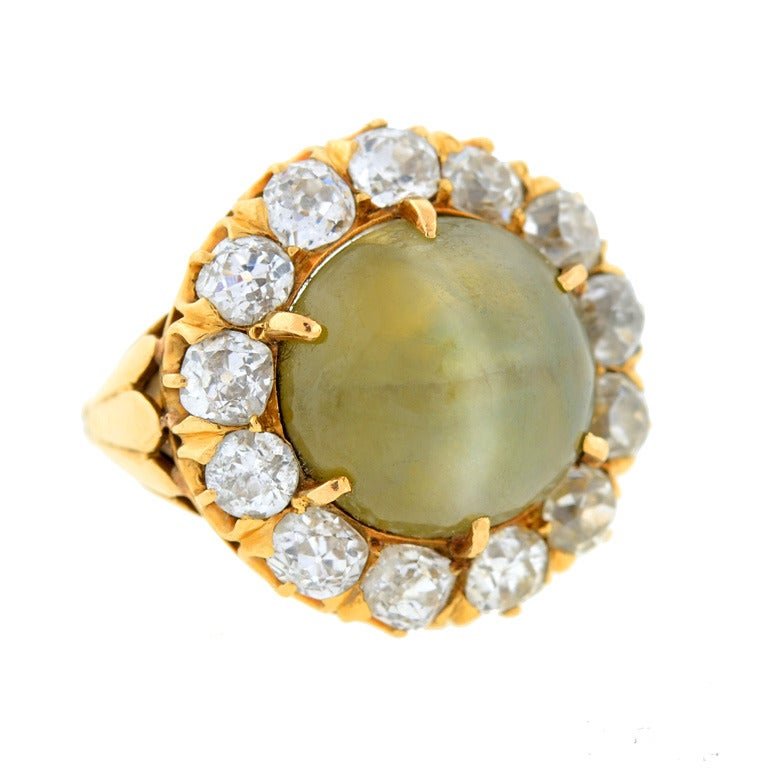 com pin ring portuguese antique chrysoberyl cluster elegant rings gold