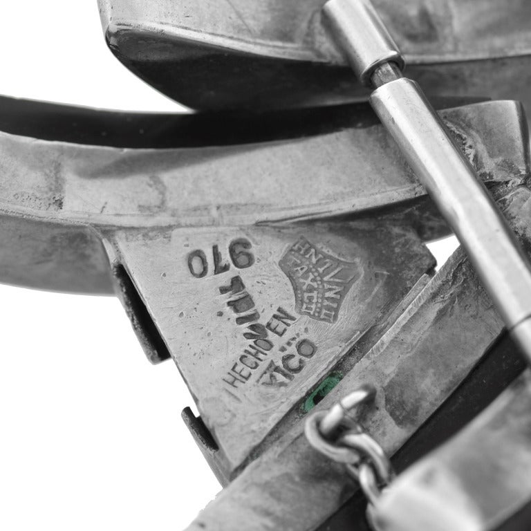 ANTONIO PINEDA Vintage Obsidian Spine Bracelet For Sale 3