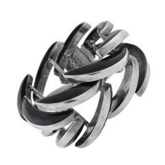 ANTONIO PINEDA Vintage Obsidian Spine Bracelet