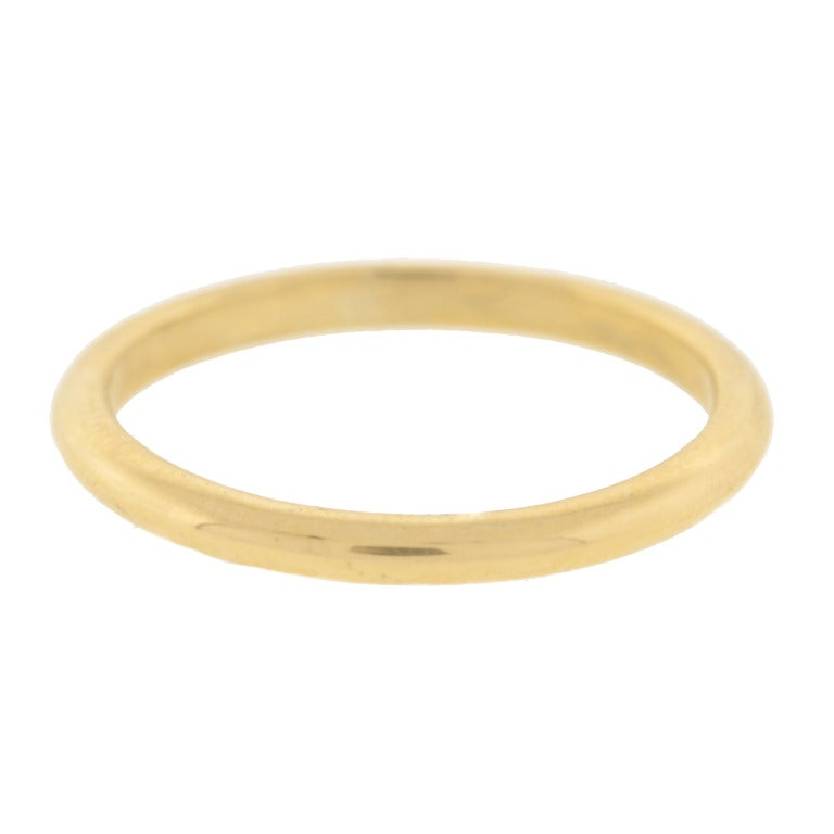 cartier thin bracelet cartier retro thin gold band ring at 1stdibs 4869
