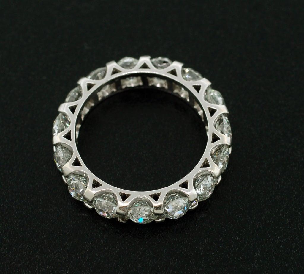 Art Deco Diamond Platinum Eternity Band Ring 4 25ctw At