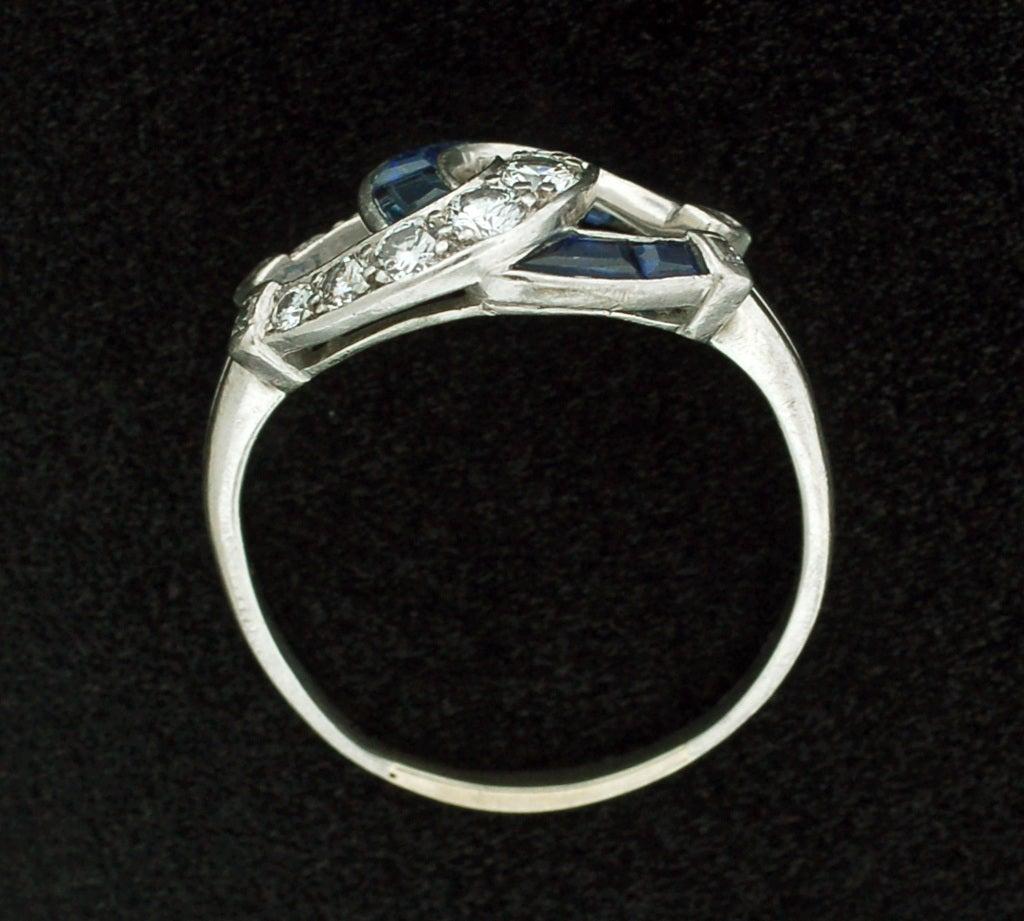 edwardian and sapphire platinum horseshoe