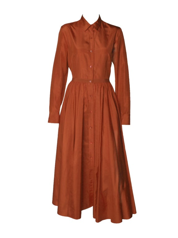 1990 39 S Isaac Mizrahi Red Silk Taffeta Dress At 1stdibs