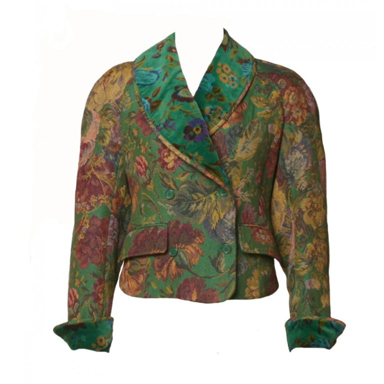 1980 S Kenzo Floral Tapestry Jacket At 1stdibs