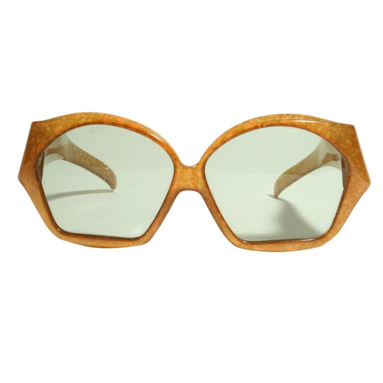 1970 S Christian Dior Honeycomb Frame Sunglasses At 1stdibs