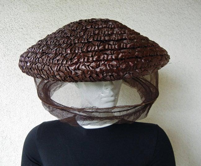 Black Rare Gilbert Adrian Custom Bee Keeper Hat For Sale