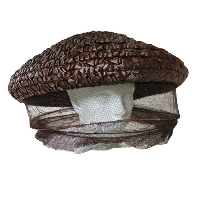 Rare Gilbert Adrian Custom Bee Keeper Hat For Sale