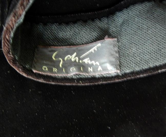 Women's  Adrian Black Silk Velvet Snood Hat   Excellent Condition! For Sale