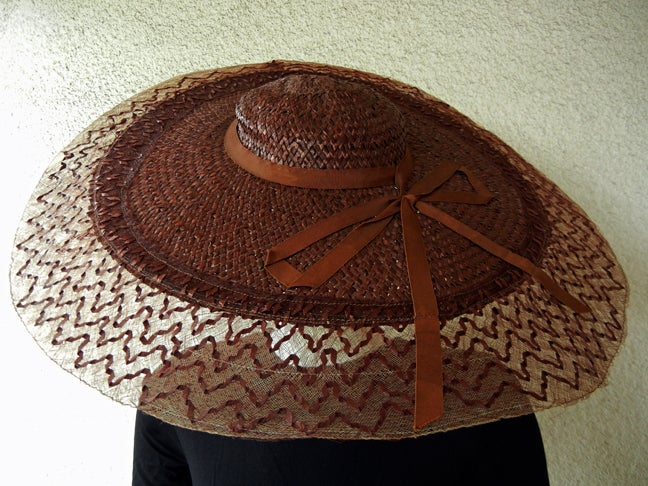 Adrian Romantic & Dramatic Custom Pinwheel Hat In Excellent Condition For Sale In Los Angeles, CA