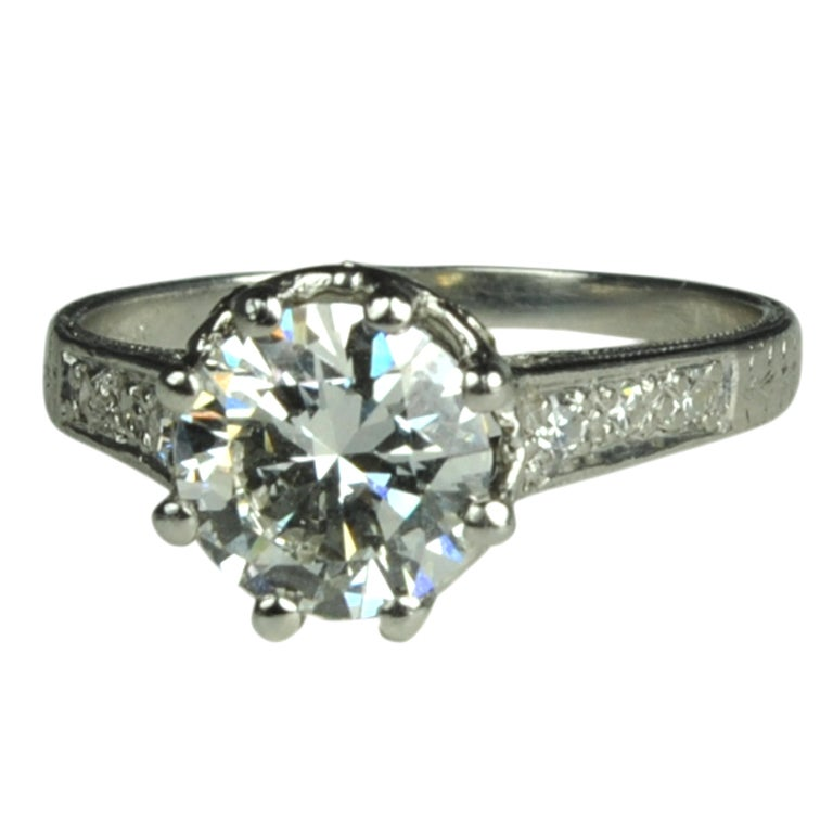 fabulous crown setting engagement ring at 1stdibs