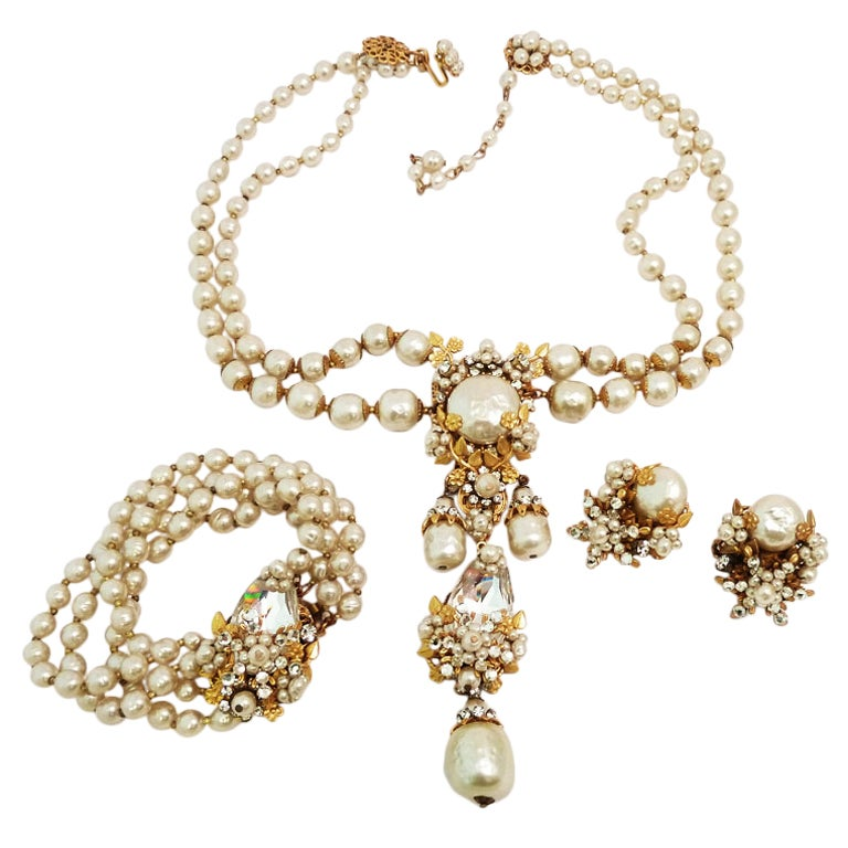 rare vintage miriam haskell necklace bracelet and