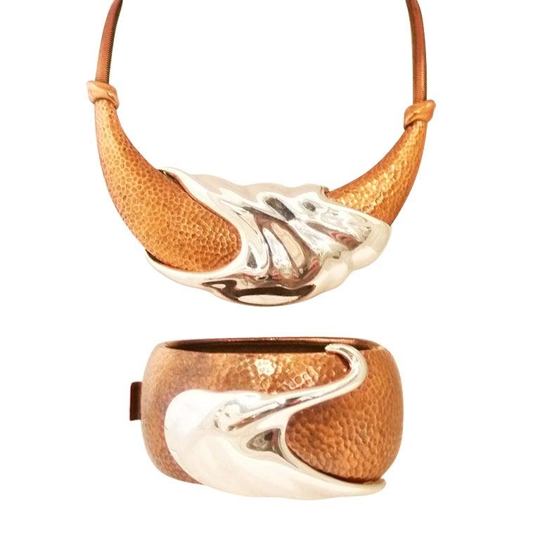 Vintage Monet Necklace And Bracelet At 1stdibs
