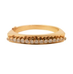 Diamond & 14kt Gold Bracelet