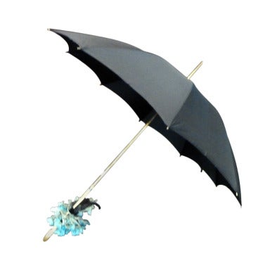 1950s Vintage Belgian Custom Made Beaded Umbrella