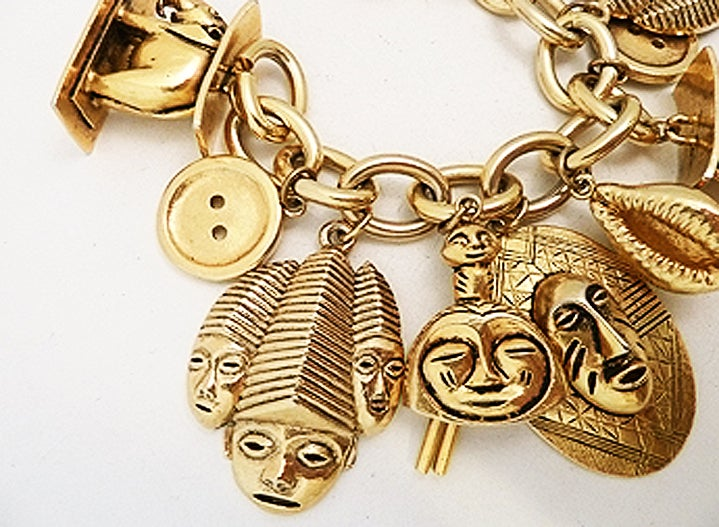 Vintage Isabel Canovas Multi-Charm Bracelet 2