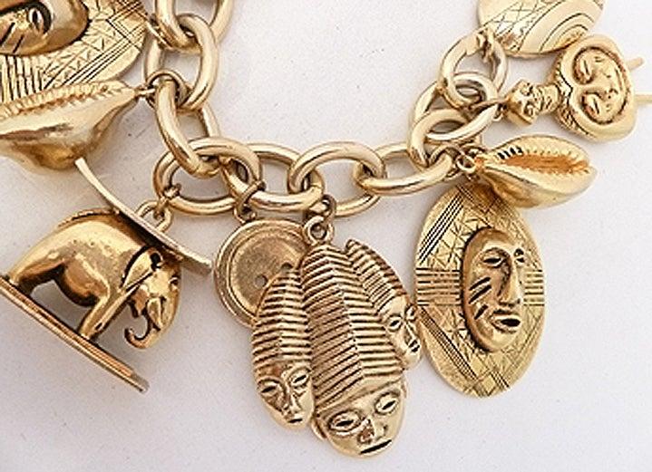 Vintage Isabel Canovas Multi-Charm Bracelet 3