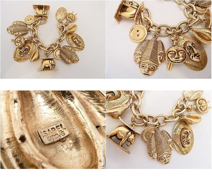 Vintage Isabel Canovas Multi-Charm Bracelet 5