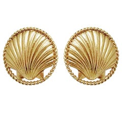 Chanel Sea Shell Earrings, 1980s