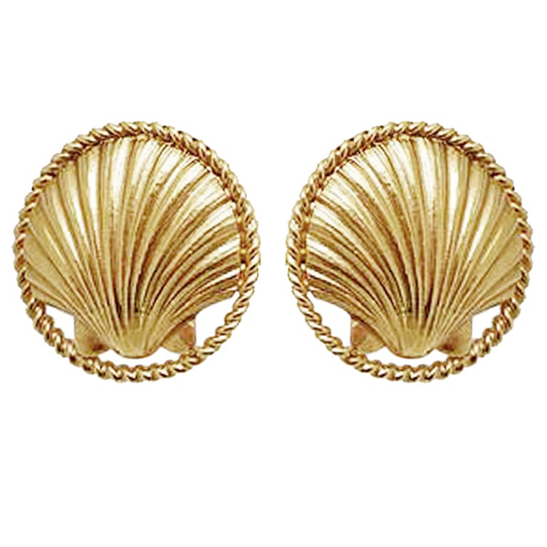 Chanel 1960's Sea Shell Earrings 1