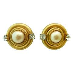 Chanel Vintage Faux Pearl Earrings