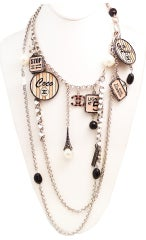 Vintage Chanel 'House of Goossens' Multi-Charm Necklace thumbnail 2