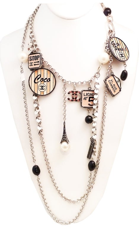 Vintage Chanel 'House of Goossens' Multi-Charm Necklace image 2