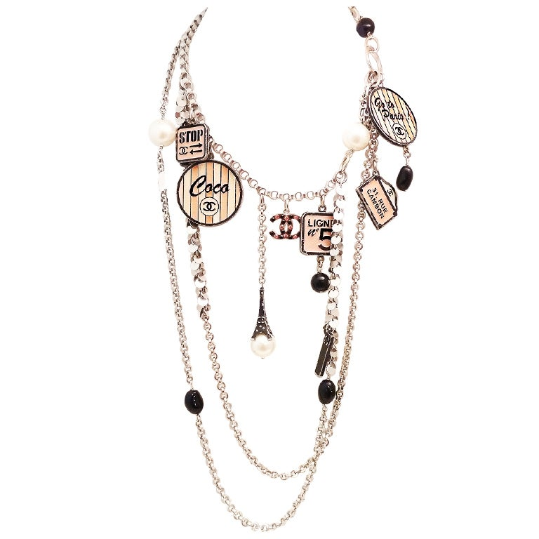Vintage Chanel 'House of Goossens' Multi-Charm Necklace