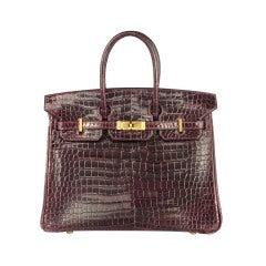 Hermes 25 cm Birkin Bag Porosus Crocodile