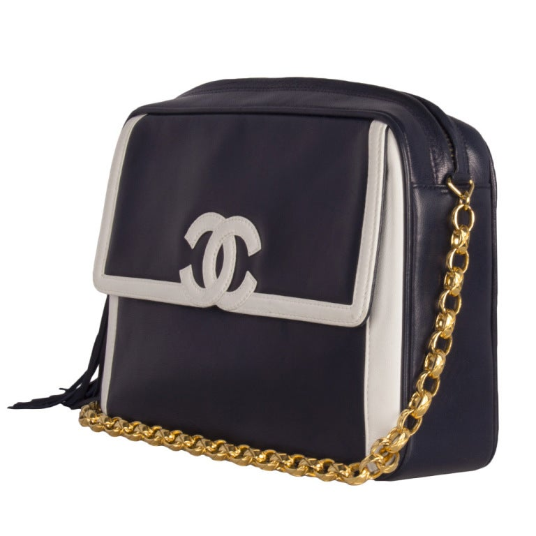 Chanel Blue Camera Bag 3