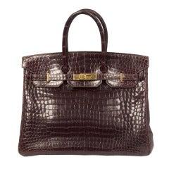 Hermes 35 cm Birkin Bag Porosus Crocodile