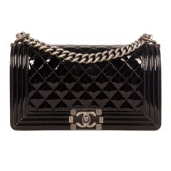 Chanel Patent Leather Boy Bag