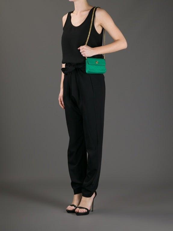 Chanel Vintage Quilted Fabric Shoulder Bag 2