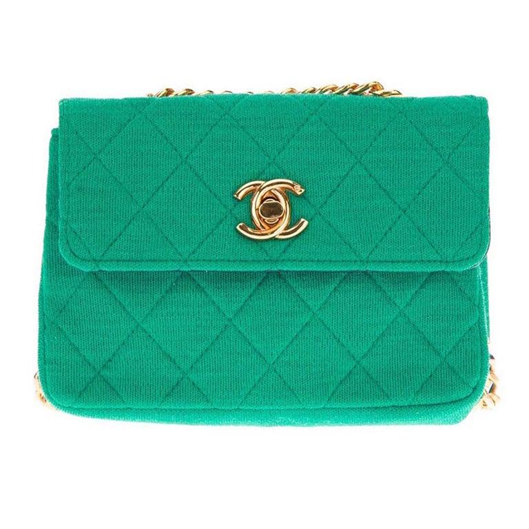 Chanel Vintage Quilted Fabric Shoulder Bag 1