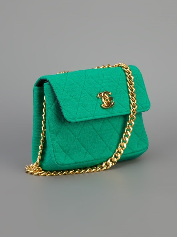 Chanel Vintage Quilted Fabric Shoulder Bag 3