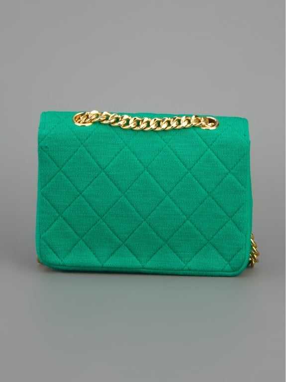 Chanel Vintage Quilted Fabric Shoulder Bag 4