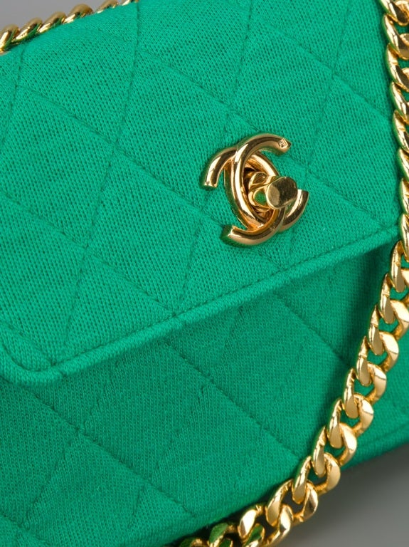 Chanel Vintage Quilted Fabric Shoulder Bag image 5