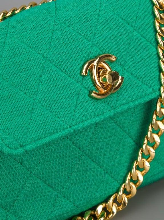 Chanel Vintage Quilted Fabric Shoulder Bag 5