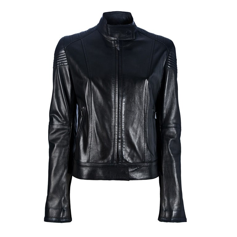 From Emotional Baggage collection, where items are specially customised with hand-painted illustrations. In black leather, the vintage jacket is customised with a stylish comic style design.  Colour: Black  Material: Leather  Black Napa leather