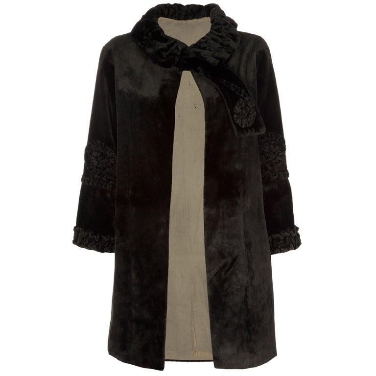 1920's Vintage Velvet Coat 1