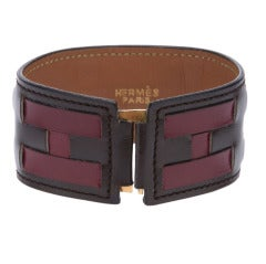 Hermes Vintage Leather Bracelet